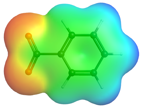 Benzoate Ion ESP on Electron Density