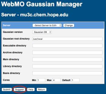 WebMO Help